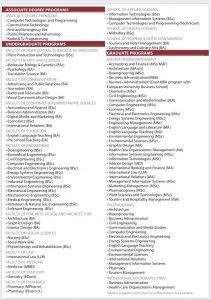 رشته-های-دانشگاه-CIU-